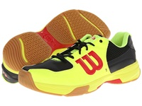 Wilson Recon Yellow Black Red Tennis Shoes Brown
