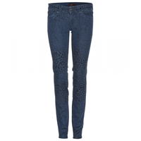 7 For All Mankind Printed Olivya Skinny Jeans Indigo Animalie