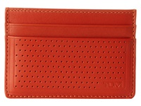 Tumi Bowery Slim Card Case Id Orange Credit Card Wallet