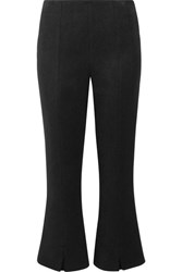 By Malene Birger Gassy Cropped Twill Flared Pants Black