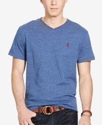 Polo Ralph Lauren Men's Relaxed Fit Jersey V Neck T Shirt Blue