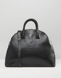 Matt And Nat Round Tote Bag Black