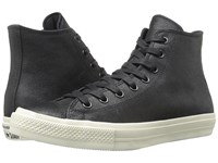 Converse Chuck Taylor All Star Ii Coated Leather Hi Black Black Turtledove Lace Up Casual Shoes