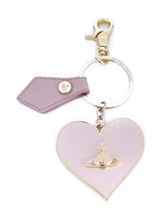 Vivienne Westwood Heart Keyring Pink And Purple