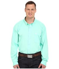 Cinch Long Sleeve Button Down Solid Green Men's Long Sleeve Button Up