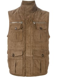 Eleventy Patch Pocket Gilet Nude And Neutrals