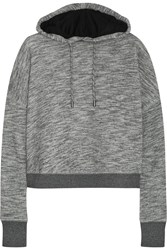 Rag And Bone Murphy Wrap Effect Back Cotton Terry Hooded Sweatshirt Gray