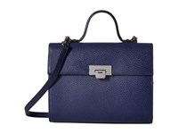 Lodis Stephanie Rfid Under Lock Key Bree Medium Crossbody Midnight Cross Body Handbags Navy