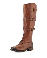 Vince Camuto Fenton Bucked Leather Boots Russet