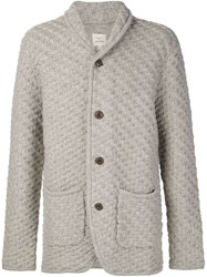 Max 'N Chester Textured Knit Cardigan Grey