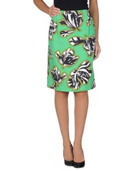 Jonathan Saunders Knee Length Skirts Green