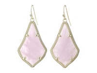 Kendra Scott Alex Earring Gold Rose Quartz Earring