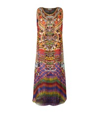 Camilla Embellished Printed Sheer Maxi Kaftan Female Multi
