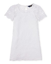 Ralph Lauren Childrenswear Short Sleeve Chemical Lace Shift Dress White Size 2 6X Girl's Size 6