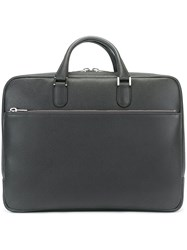Valextra Double Handle Briefcase Grey