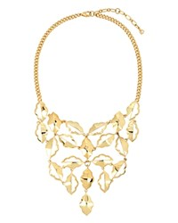 Charm And Chain Statement Necklace 16 Gold