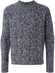 Paul Smith Cable Knit Marled Sweater Blue
