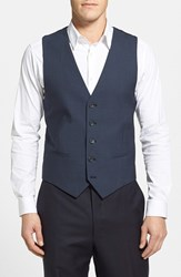 Men's Calibrate Wool And Mohair Vest Postman Blue