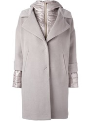 Herno Layered Padded Coat Nude And Neutrals