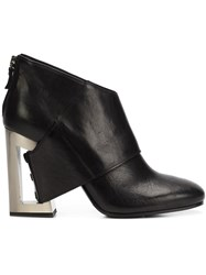 Vic Matie Open Back Heel Boots Black
