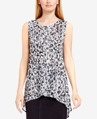 Vince Camuto Two By Burnout Animal Print Tunic Rich Black