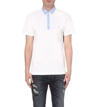 Diesel T Angier Cotton Polo Shirt White
