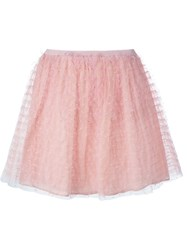 Red Valentino Tulle Layer Short Skirt Pink And Purple