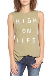 Amuse Society Women's 'Lost Seas' Graphic Muscle Tank