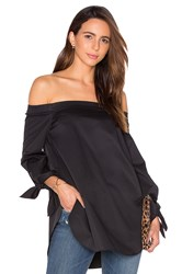 Tibi Off The Shoulder Tunic Black