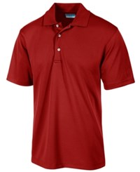 Pga Tour Men's Airflux Solid Golf Polo Shirt Chili Pepper