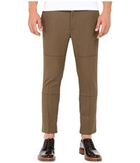 Marc Jacobs Strictly Twill Trousers Army Melange Men's Casual Pants Brown