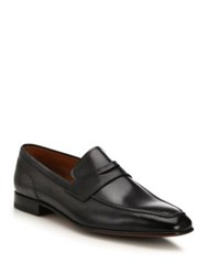 Bally Brent Leather Penny Loafers Black