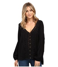 O'neill Dylan Top Stretch Limo Women's Blouse Black
