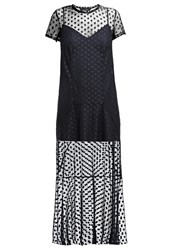 The Fifth Label Tell The Story Maxi Dress Navy Dark Blue