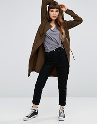 Only Mackenzie Hooded Parka Beech Green