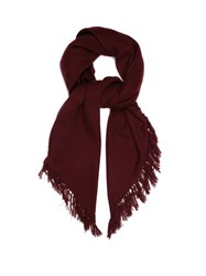 Isabel Marant Zila Cashmere And Wool Blend Scarf Burgundy