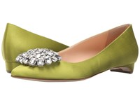 Rupert Sanderson Jewel Bedfa Eden Satin Clear Pebble Women's Flat Shoes Yellow