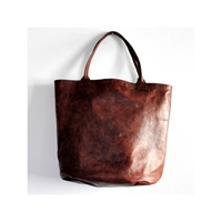 Brown 'Bucket' Leather Bag Vdc For La Liane