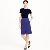 J.Crew Petite A Line Skirt In Bi Stretch Cotton