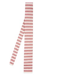 Gucci Striped Linen And Silk Blend Tie