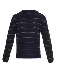 Lanvin Striped Crew Neck Wool Sweater