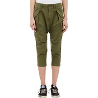 Nlst Women's Harem Cargo Pants Dark Green