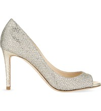 Jimmy Choo Evelyn 85 Glitter Fabric Courts Champagne