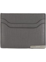 Tod's Pebbled Card Holder Grey