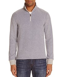 Robert Graham Poole Stripe Half Zip Pullover Navy