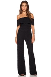 Nightcap Spanish Off Shoulder Jumpsuit Black