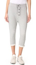 James Perse Slouchy Collage Sweatpants Heather Grey