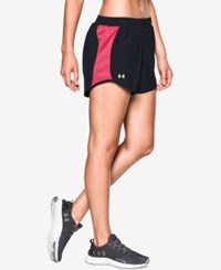 Under Armour Fly By Colorblocked Shorts Black Pink Sky