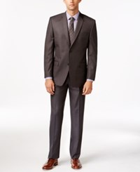 Andrew Marc New York Marc New York By Andrew Marc Slim Fit Charcoal Sharkskin Suit