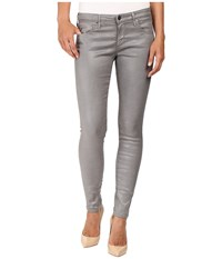 Ag Adriano Goldschmied Leggings Ankle In Leatherette Light Cloud Grey Leatherette Light Cloud Grey Women's Jeans Gray